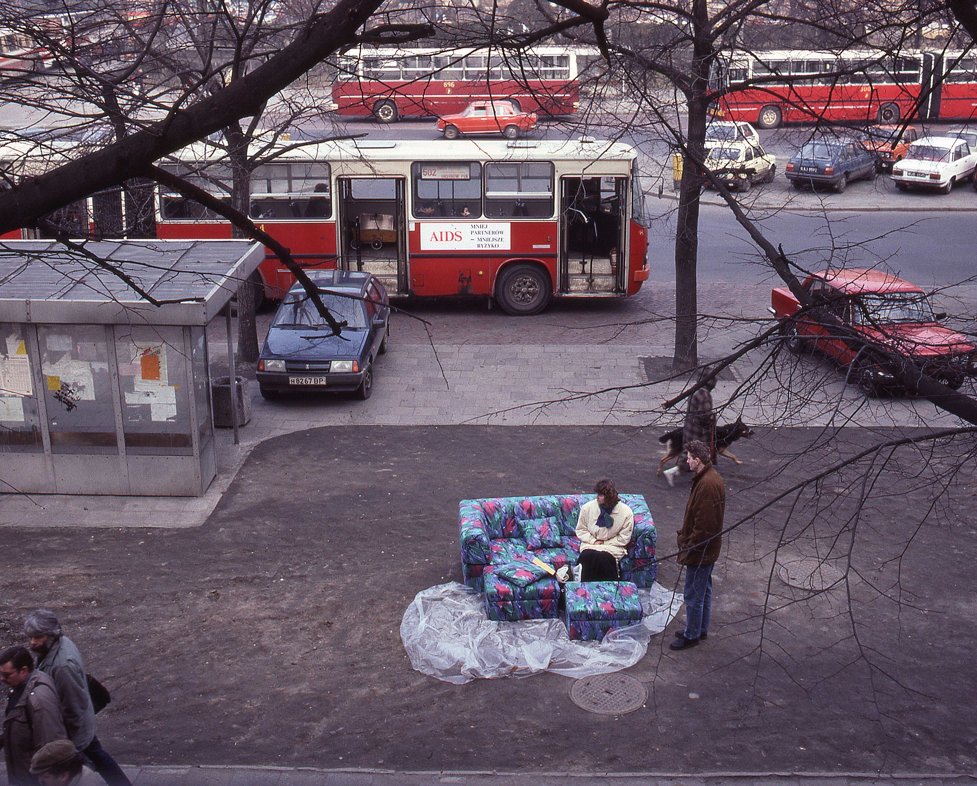 Tadeusz Rolke In Front Of The Emilia Furniture Store Warsaw 1992